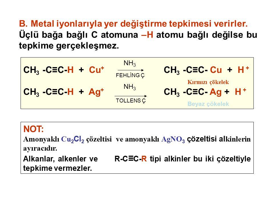B. Metal iyonlarıyla yer değiştirme tepkimesi verirler.