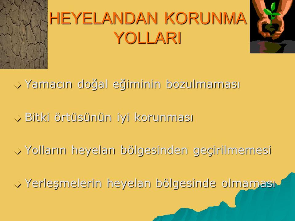 HEYELANDAN KORUNMA YOLLARI