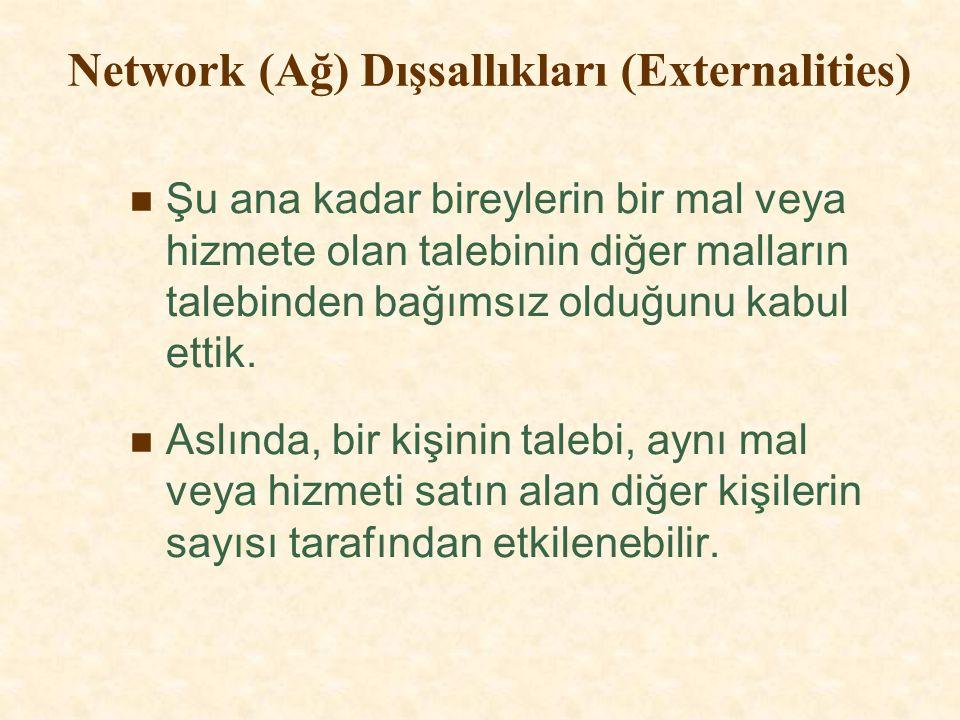 Network (Ağ) Dışsallıkları (Externalities)