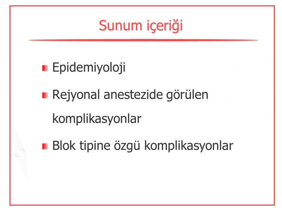Sunum içeriği Epidemiyoloji