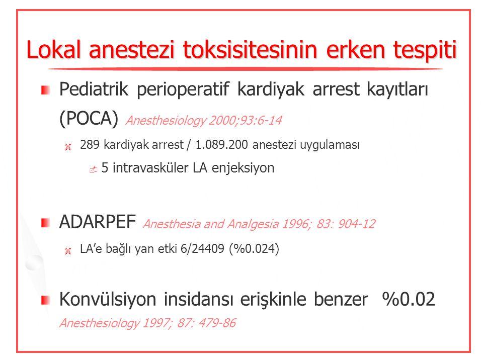 Lokal anestezi toksisitesinin erken tespiti