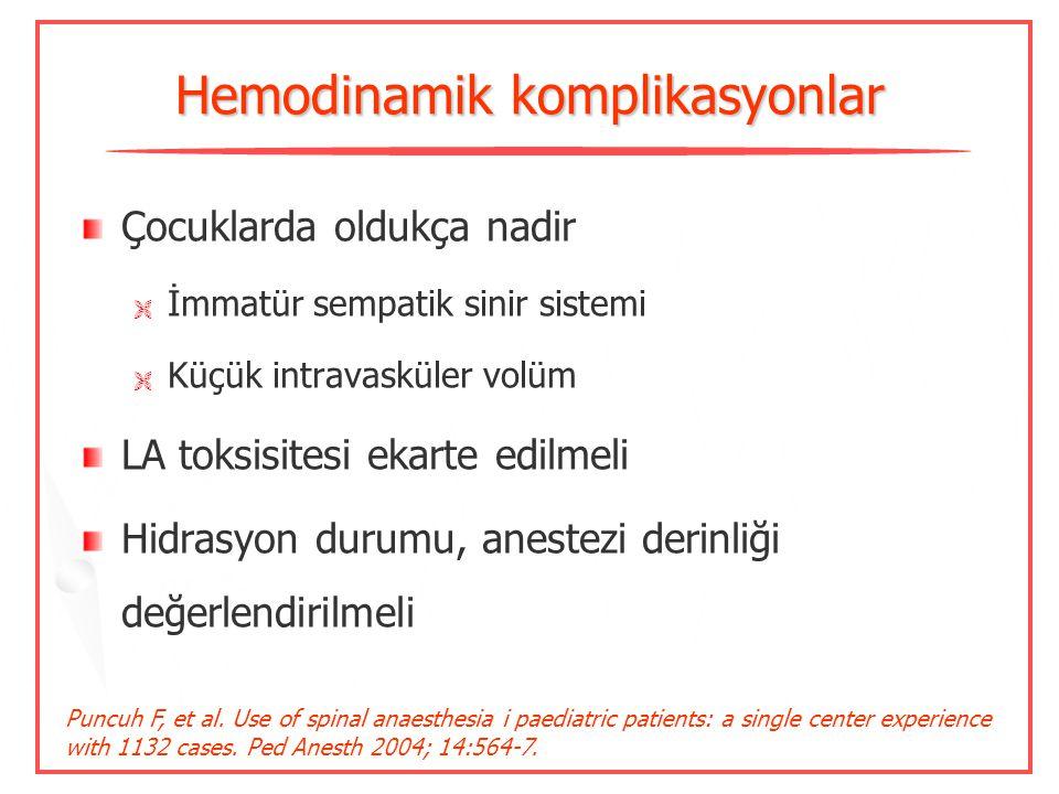 Hemodinamik komplikasyonlar