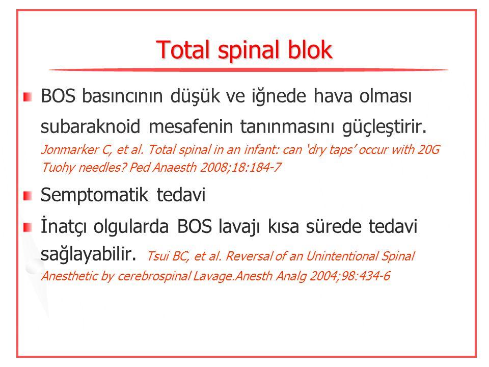 Total spinal blok