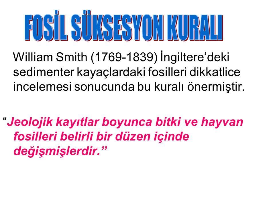 FOSİL SÜKSESYON KURALI
