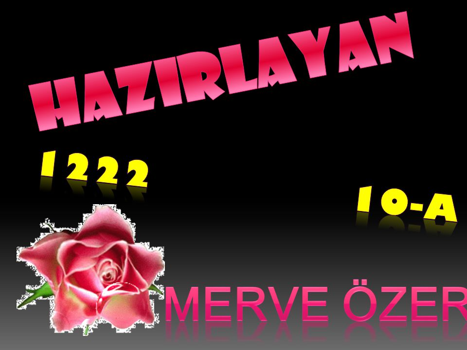 HAZIRLAYAN 1222 10-A MERVE ÖZER