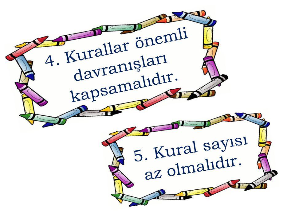 4. Kurallar önemli davranışları kapsamalıdır.