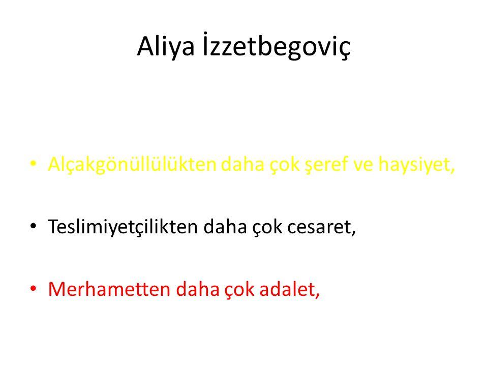 Aliya İzzetbegoviç Öğrencilere: