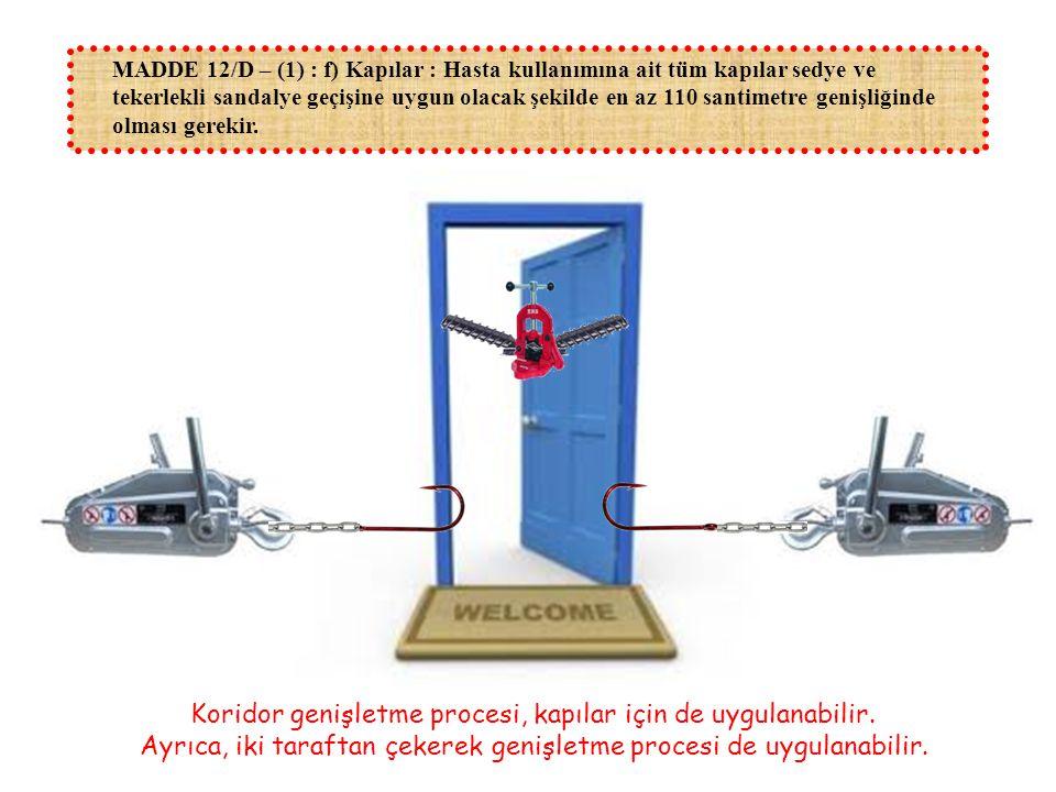 Koridor genişletme procesi, kapılar için de uygulanabilir.