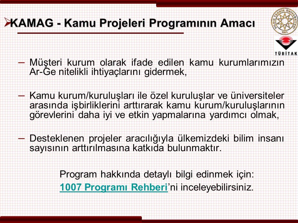 KAMAG - Kamu Projeleri Programının Amacı