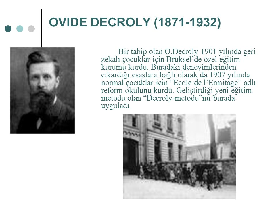 OVIDE DECROLY (1871-1932)
