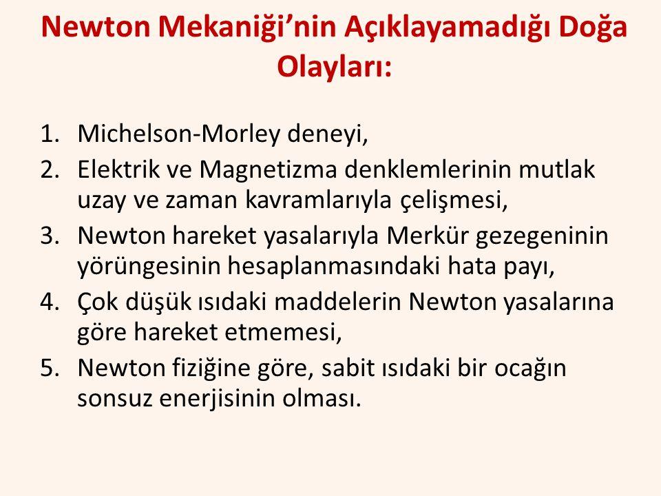 Newton Mekaniği'nin Açıklayamadığı Doğa Olayları: