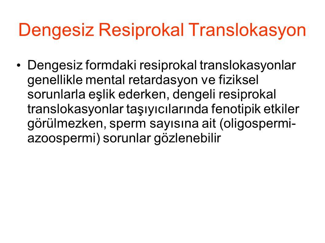 Dengesiz Resiprokal Translokasyon