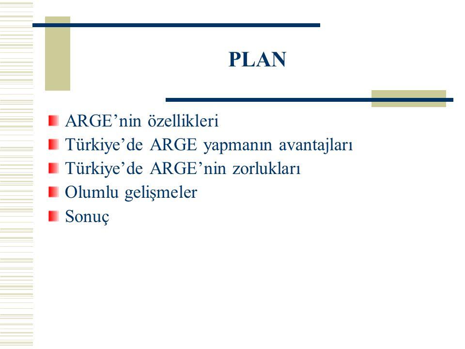 PLAN ARGE'nin özellikleri Türkiye'de ARGE yapmanın avantajları