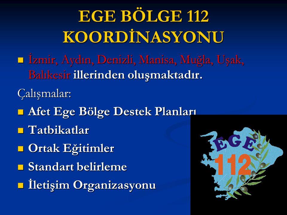 EGE BÖLGE 112 KOORDİNASYONU