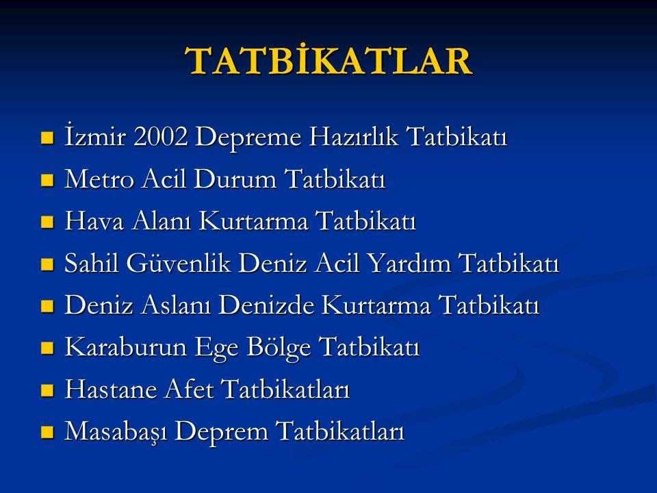 TATBİKATLAR İzmir 2002 Depreme Hazırlık Tatbikatı