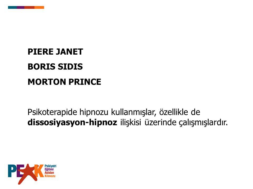 PIERE JANET BORIS SIDIS. MORTON PRINCE.