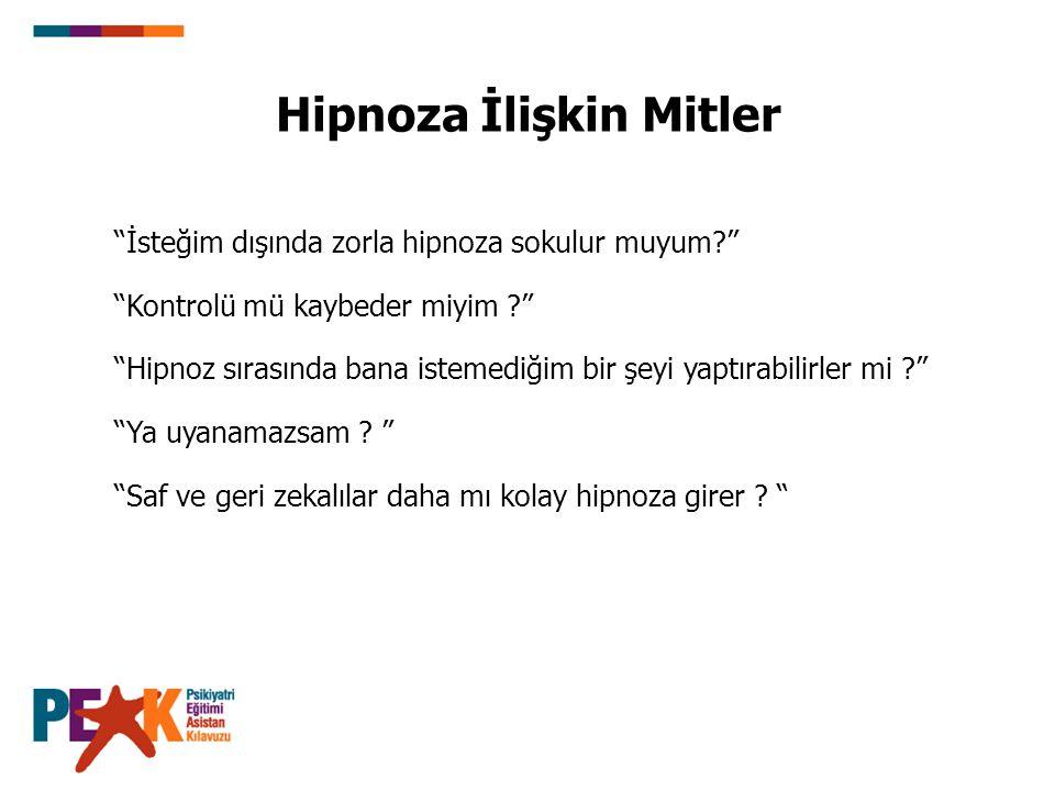 Hipnoza İlişkin Mitler