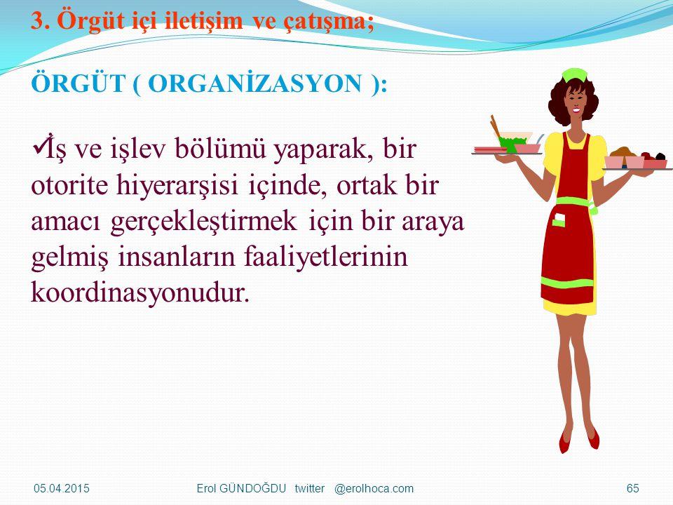 3. Örgüt içi iletişim ve çatışma;
