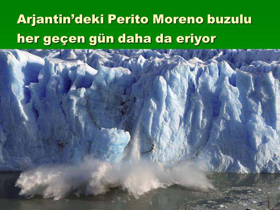 Arjantin'deki Perito Moreno buzulu her geçen gün daha da eriyor