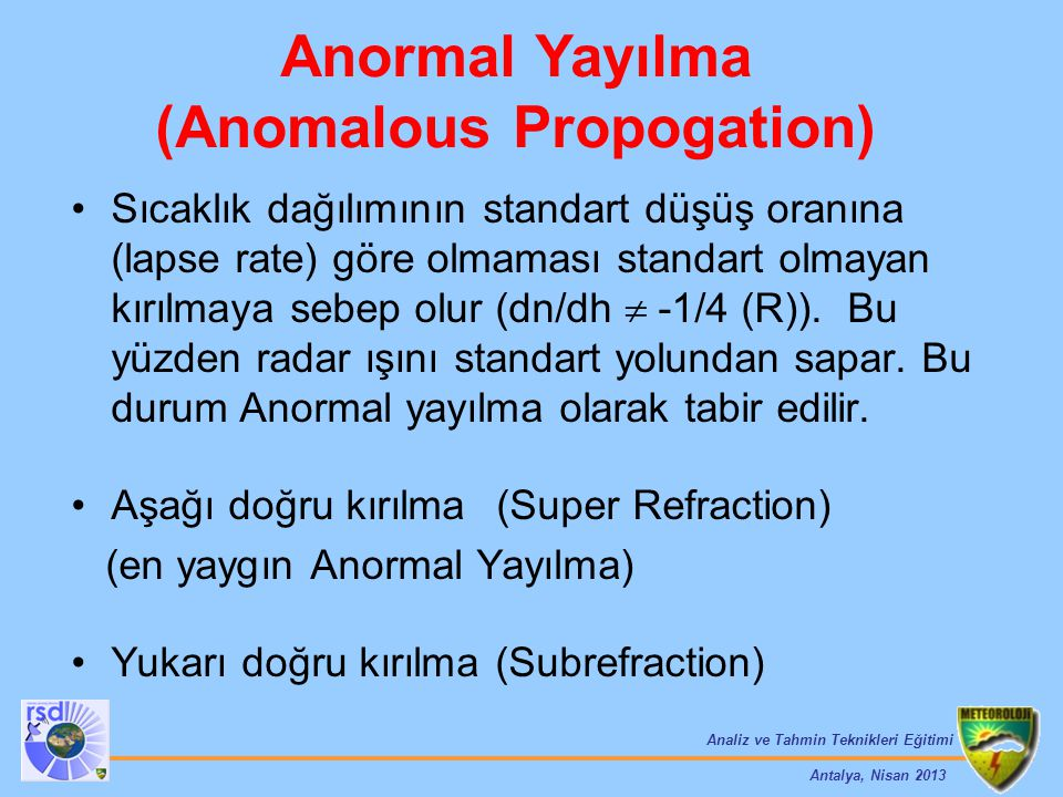 (Anomalous Propogation)