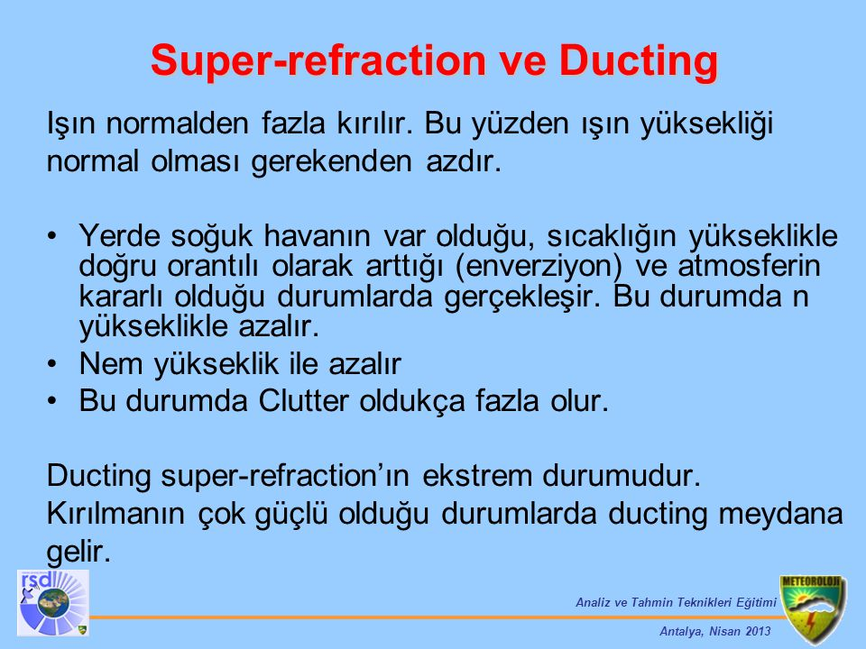 Super-refraction ve Ducting
