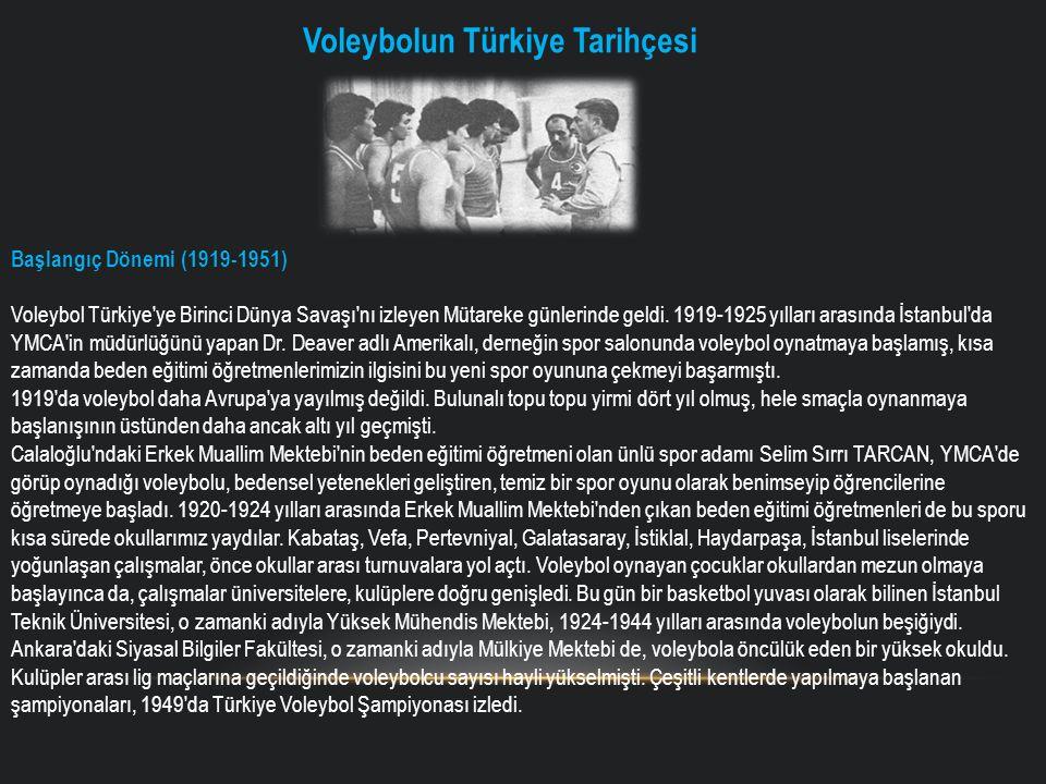 Voleybolun Türkiye Tarihçesi