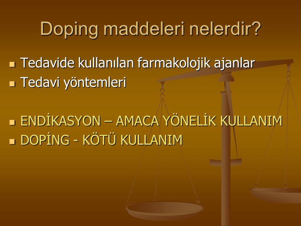 Doping maddeleri nelerdir