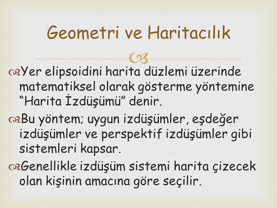Geometri ve Haritacılık
