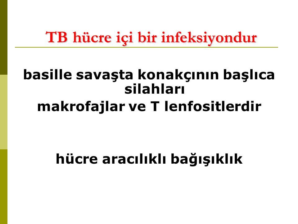 TB hücre içi bir infeksiyondur