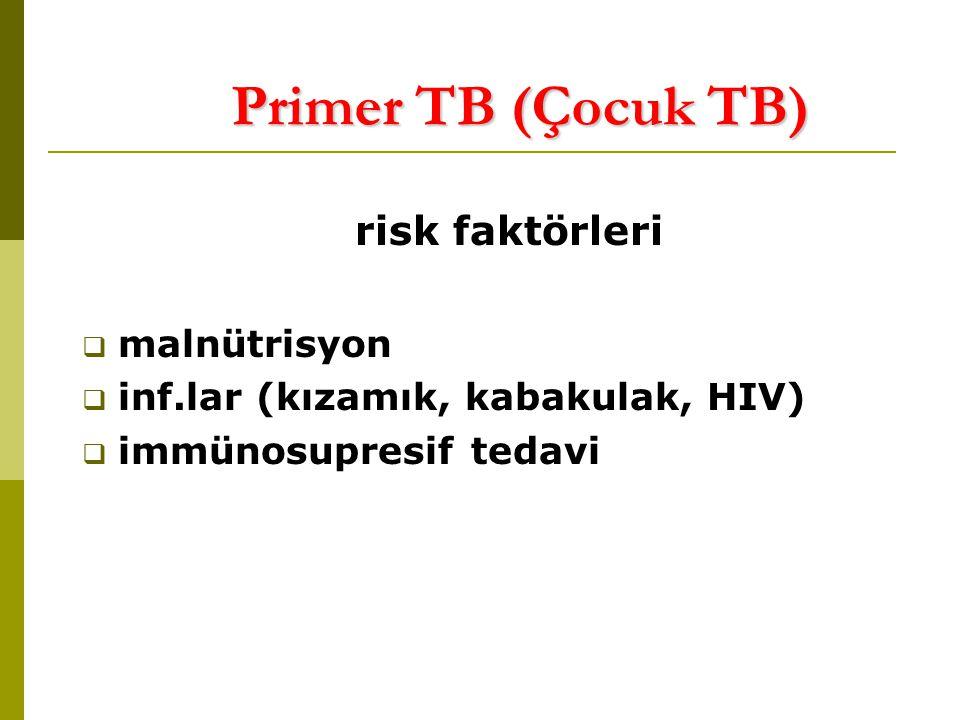 Primer TB (Çocuk TB) risk faktörleri malnütrisyon