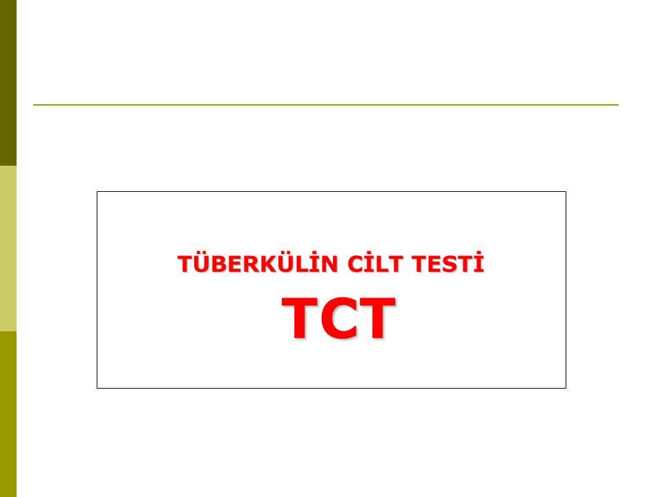 TÜBERKÜLİN CİLT TESTİ TCT