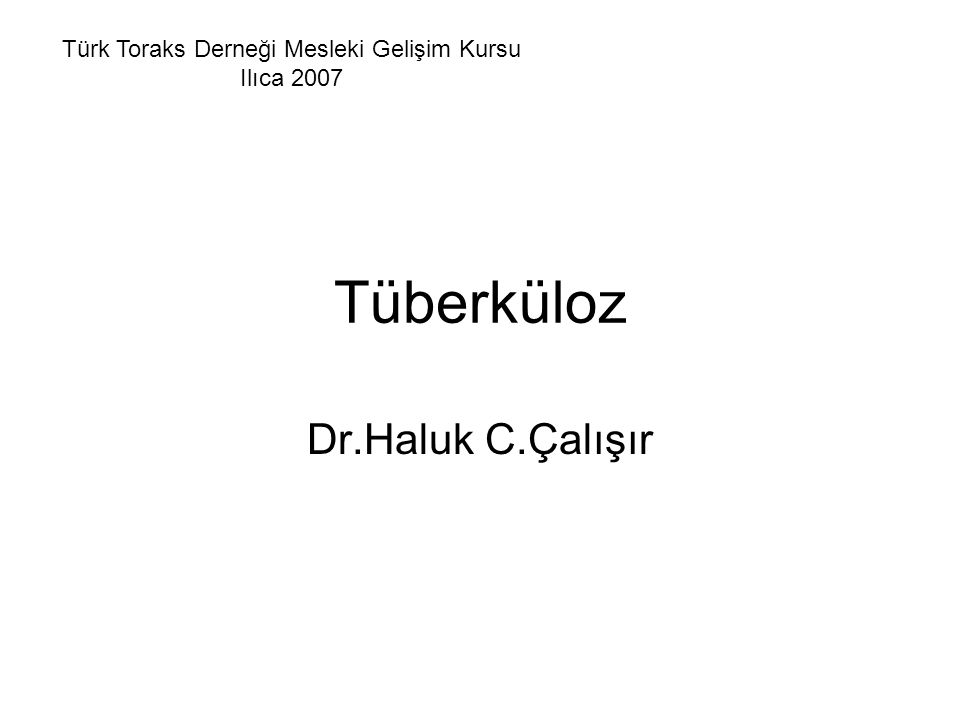 Türk Toraks Derneği Mesleki Gelişim Kursu