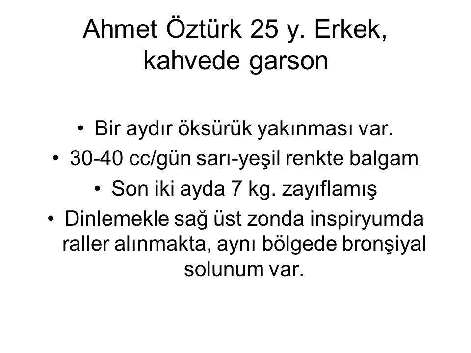 Ahmet Öztürk 25 y. Erkek, kahvede garson