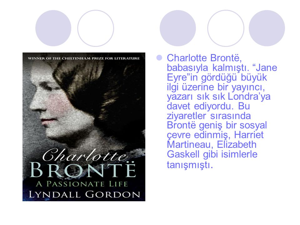 Charlotte Brontë, babasıyla kalmıştı