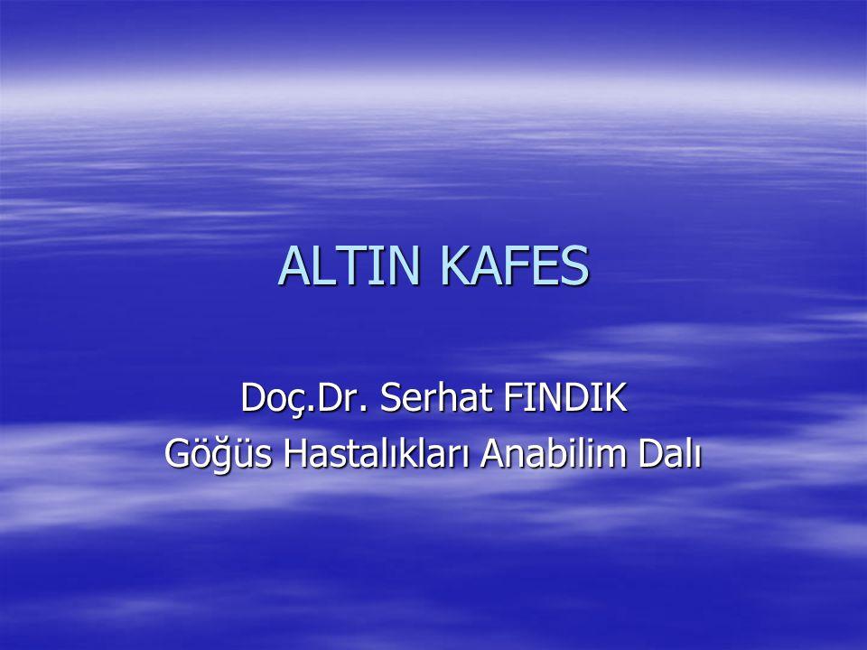 Doç.Dr. Serhat FINDIK Göğüs Hastalıkları Anabilim Dalı