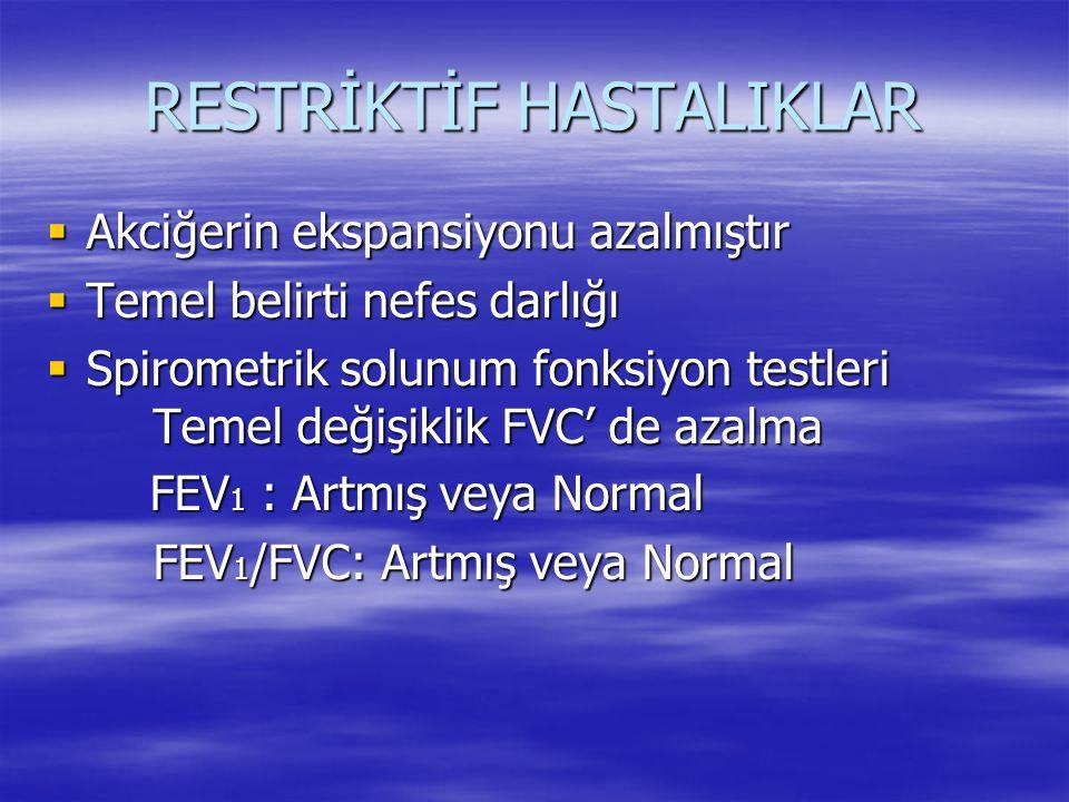 RESTRİKTİF HASTALIKLAR