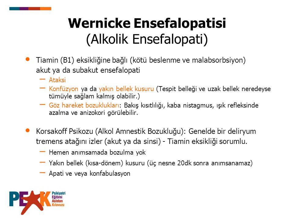 Wernicke Ensefalopatisi (Alkolik Ensefalopati)