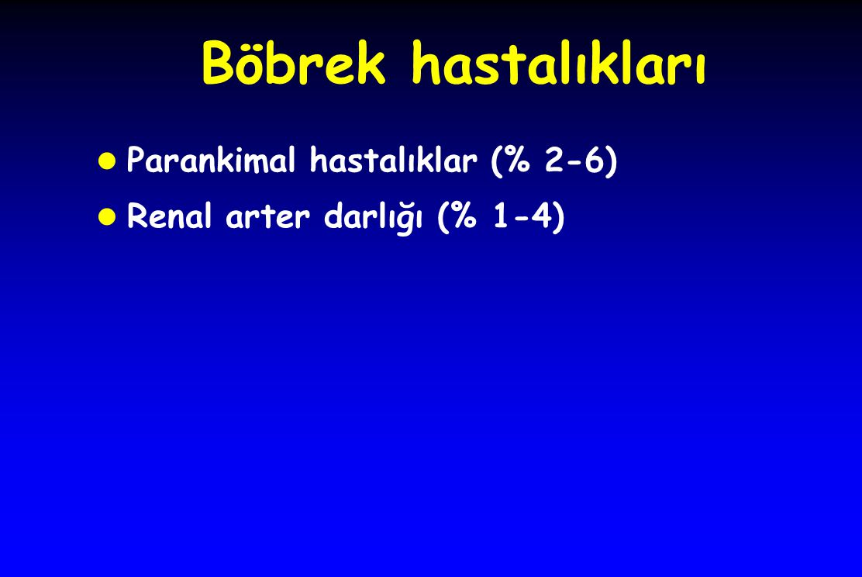 Böbrek hastalıkları Parankimal hastalıklar (% 2-6)