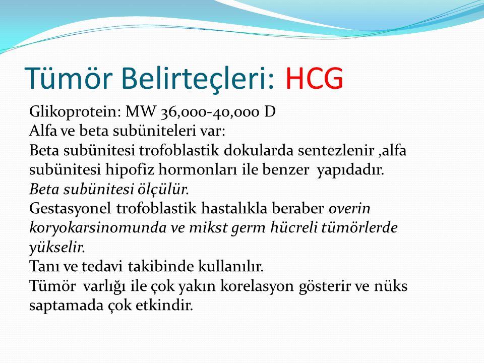 Tümör Belirteçleri: HCG