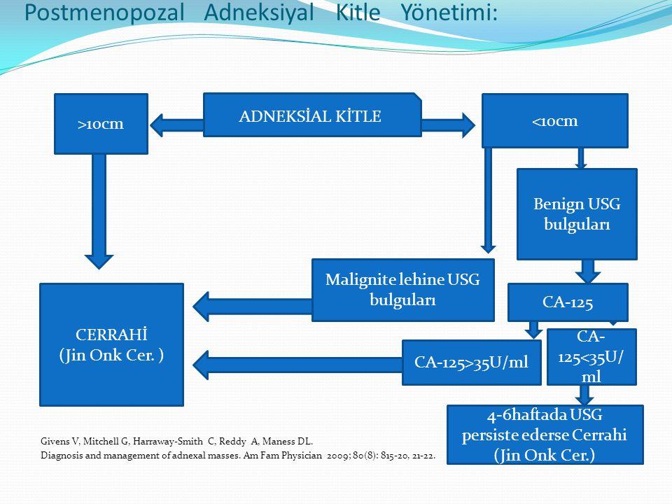 Postmenopozal Adneksiyal Kitle Yönetimi: