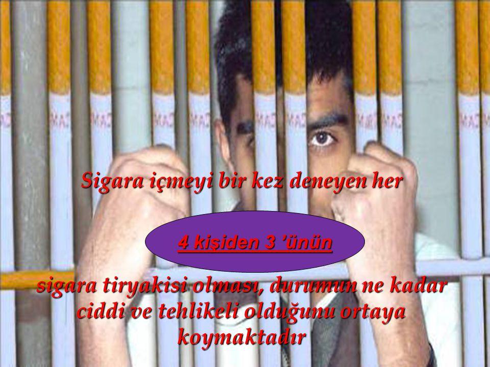 Sigara içmeyi bir kez deneyen her