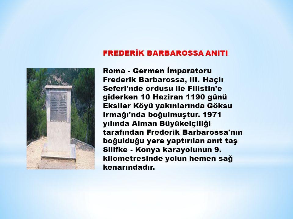 FREDERİK BARBAROSSA ANITI
