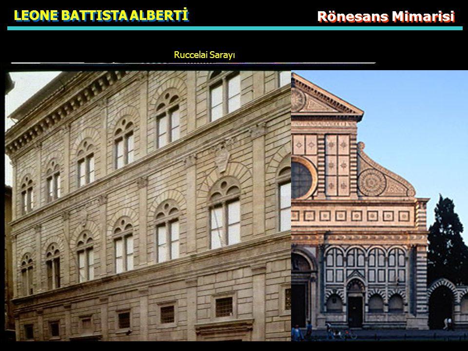 LEONE BATTISTA ALBERTİ Rönesans Mimarisi