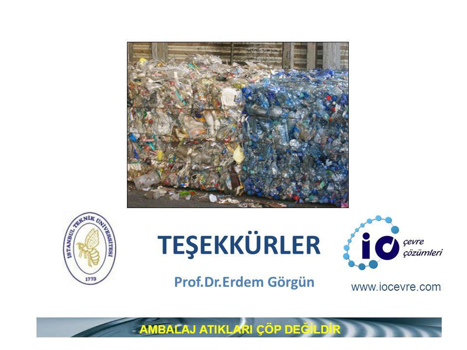 TEŞEKKÜRLER Prof.Dr.Erdem Görgün www.iocevre.com