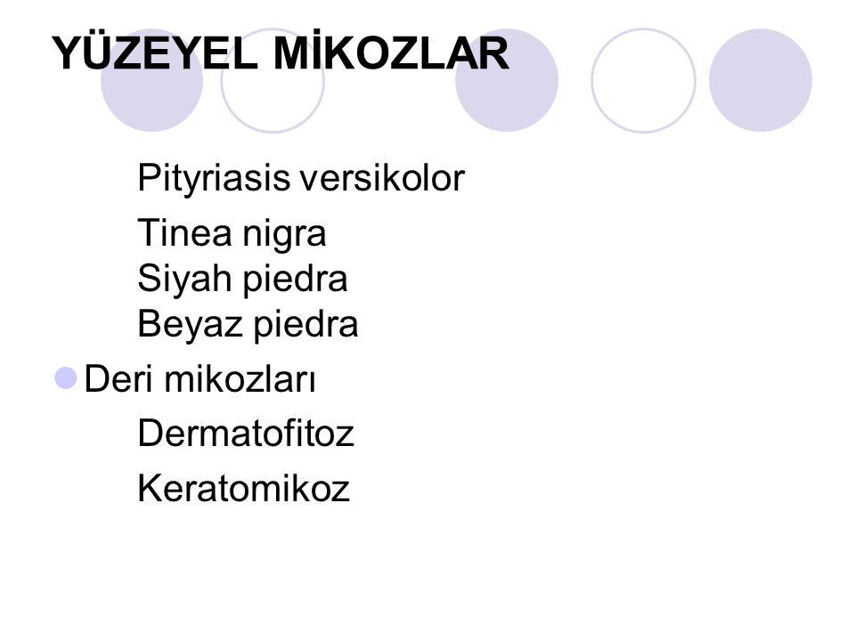 YÜZEYEL MİKOZLAR Pityriasis versikolor