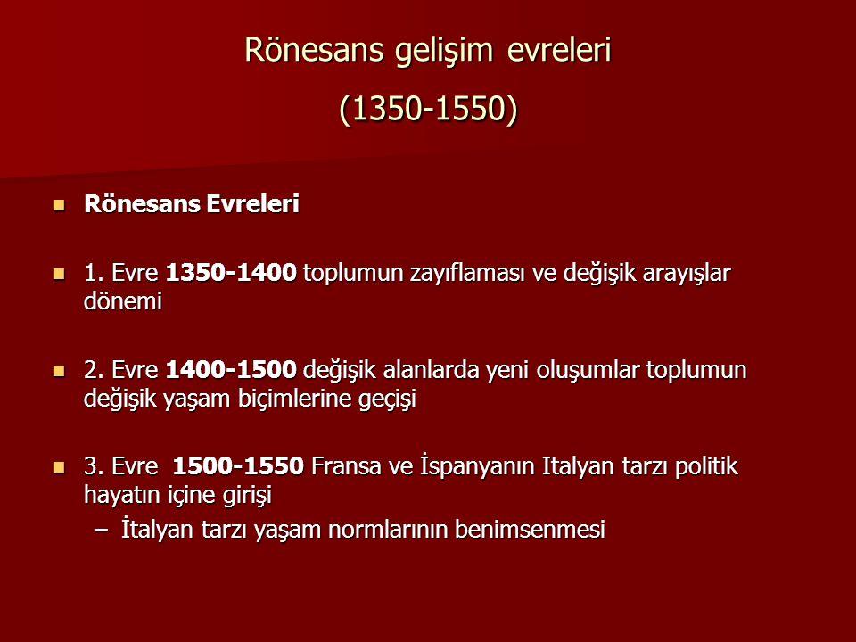 Rönesans gelişim evreleri (1350-1550)