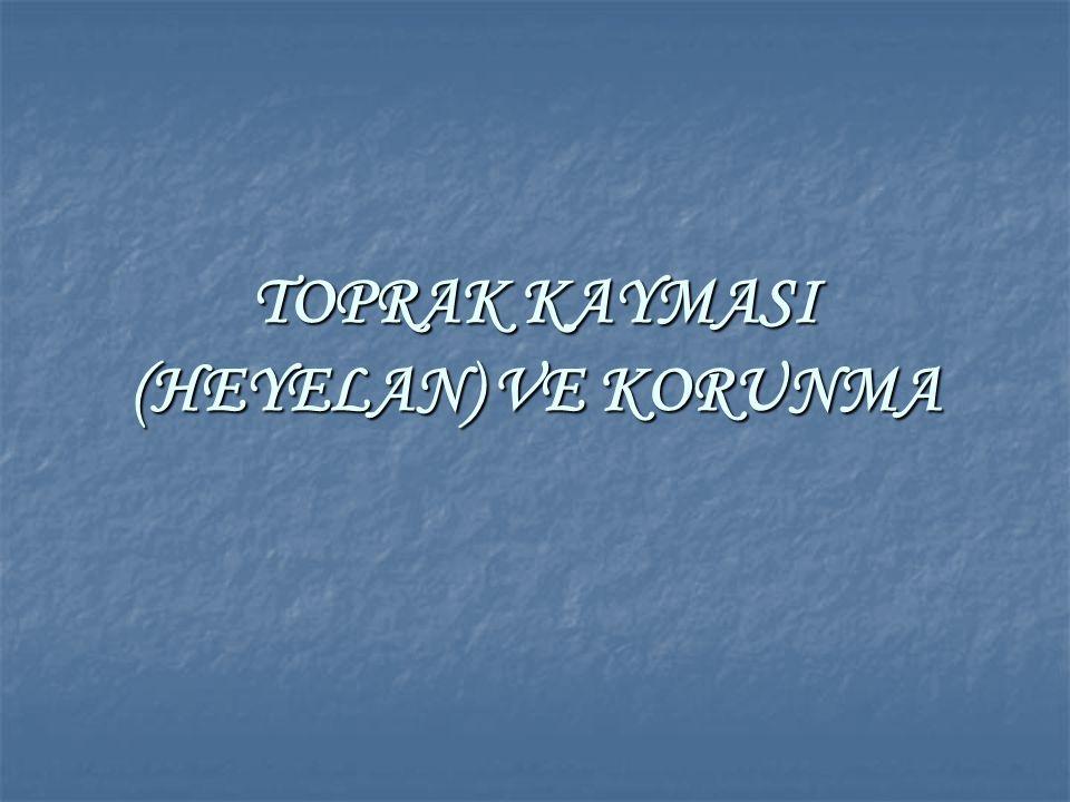 TOPRAK KAYMASI (HEYELAN) VE KORUNMA