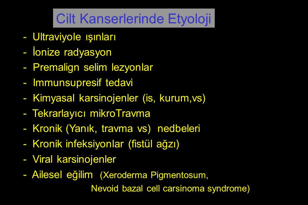 Cilt Kanserlerinde Etyoloji