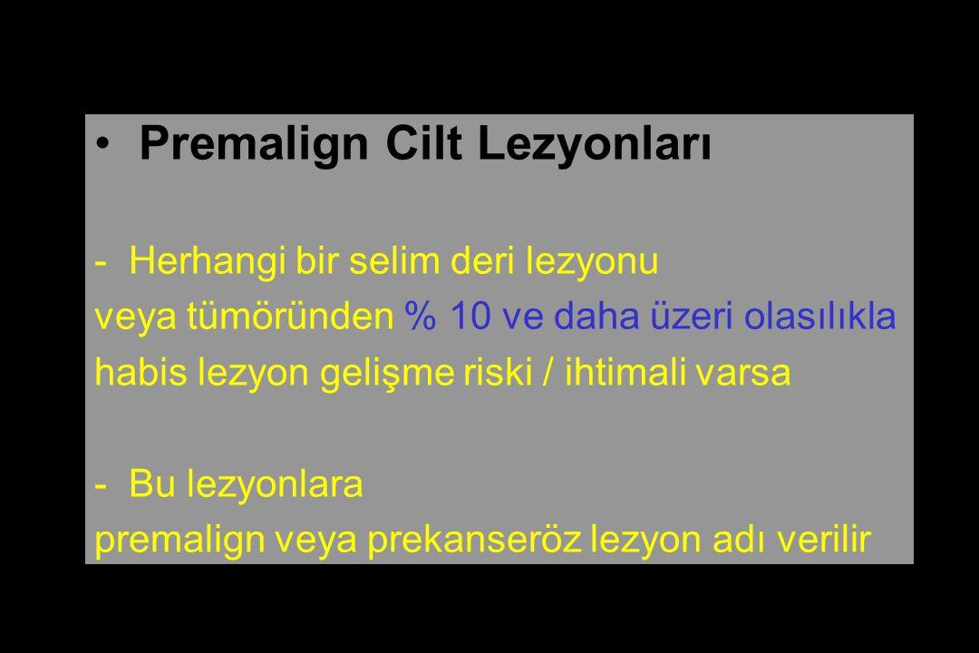 Premalign Cilt Lezyonları