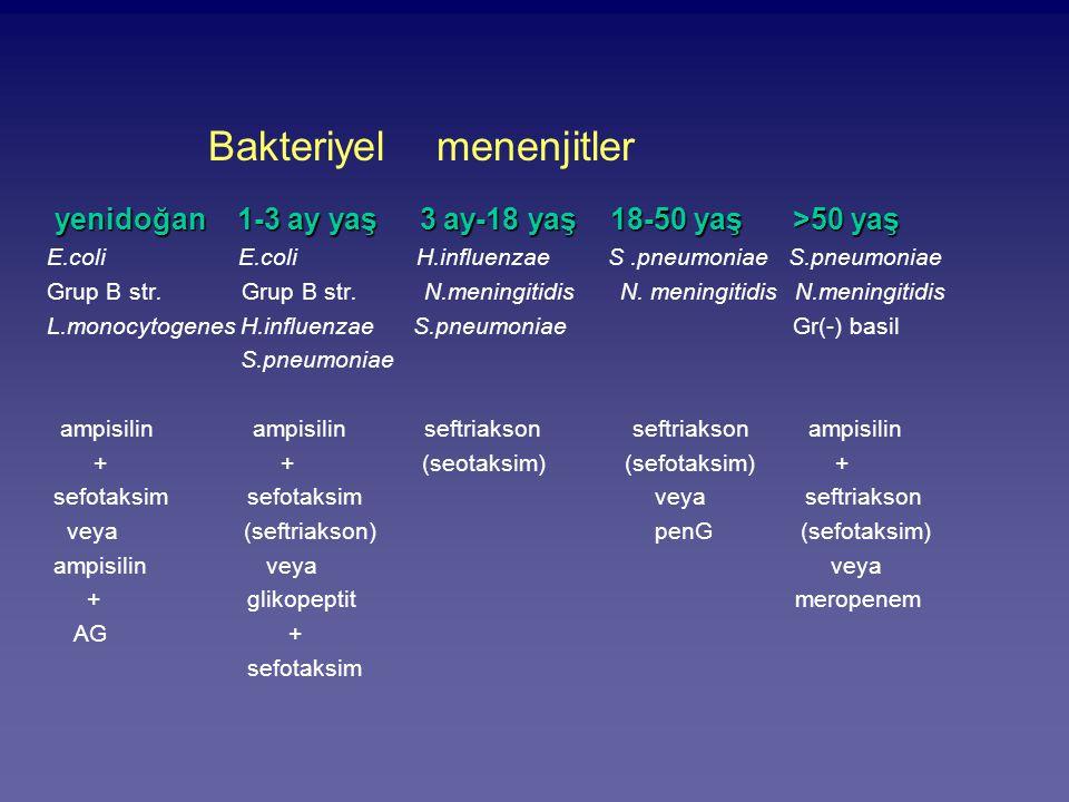 Bakteriyel menenjitler